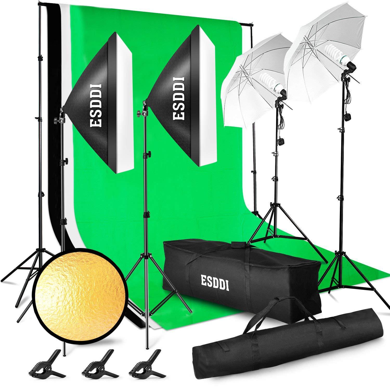 ESDDI Professionelles Fotostudio Set –2.6M x 3M / 8.5ft x 10ft