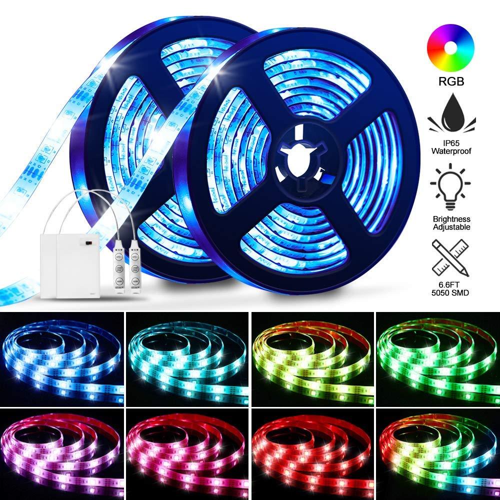 SOLMORE 4M LED Strip Lichtband Stripe batterie Lichterkette Bänder