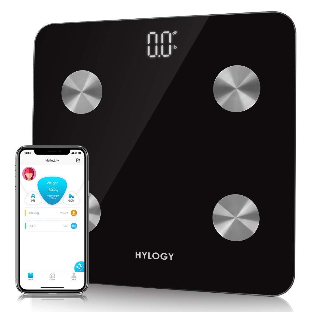 HYLOGY Digital Bluetooth Körperfettwaage mit APP für IOS und Android