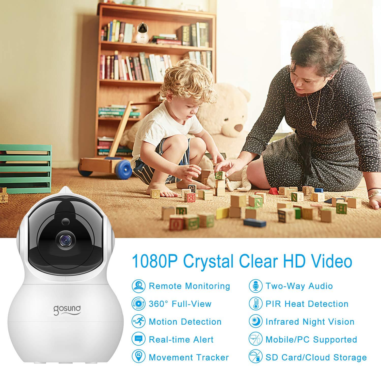 Gosund 1080P HD drahtlose intelligente IP Hauben-Kamera