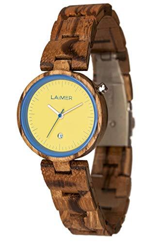 Armbanduhr aus Holz für Damen aus Zebranoholz – knapp 60 € sparen