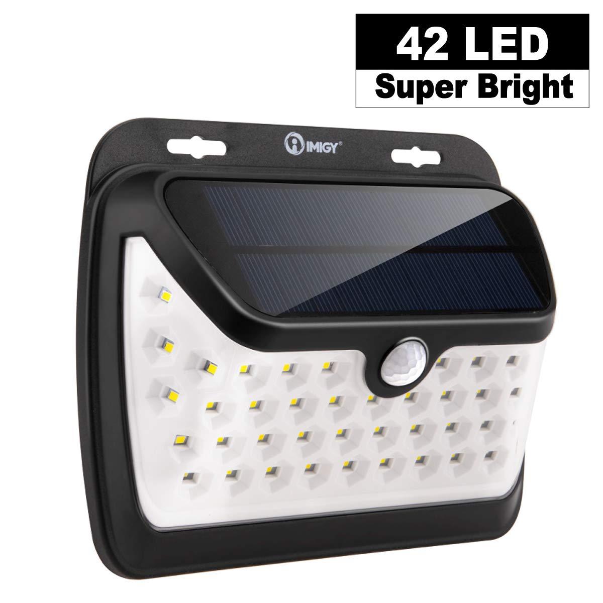 imiGY Solarlichter Bewegungsmelder Sicherheitslichter, 42 LED Solarlicht, Gehwegbeleuchtung Kabelloses, wasserdichtes Sicherheitslicht