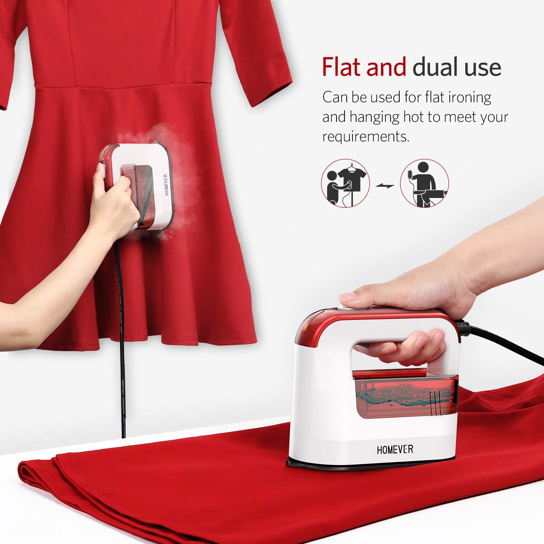 Dampfglätter Steamer, Homever Dampfbürste für Kleidung 1300W Vertikal & Horizontal Garment Steamer