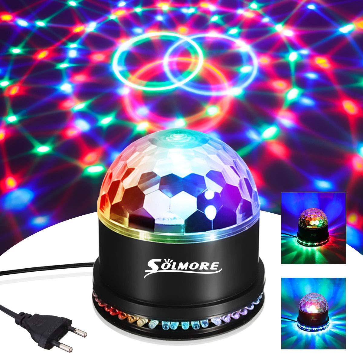 SOLMORE LED Discokugel Partyleuchte RGB Lichteffekt Bühnenbeleuchtung