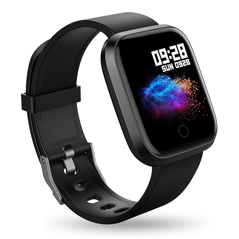 RIVERSONG Fitness Armband Smartwatch Uhr mit schrittzähler IP67 Fitness Tracker schrittzähler Armband mit Pulsmesser Smart Watch Herren Damen Kinder iOS Andriod