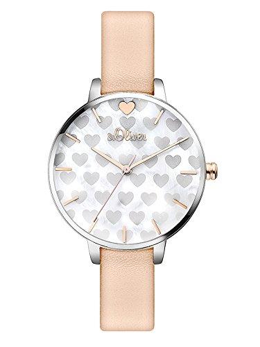 S.Oliver Damen Analog Quarz Armbanduhr SO-3474-LQ