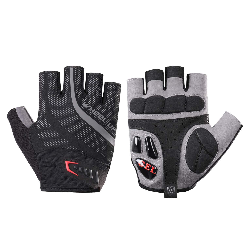 Hikenture® Fahrradhandschuhe- Gel Fingerlose Atmungsaktive MTB Handschuhe – Halbfinger