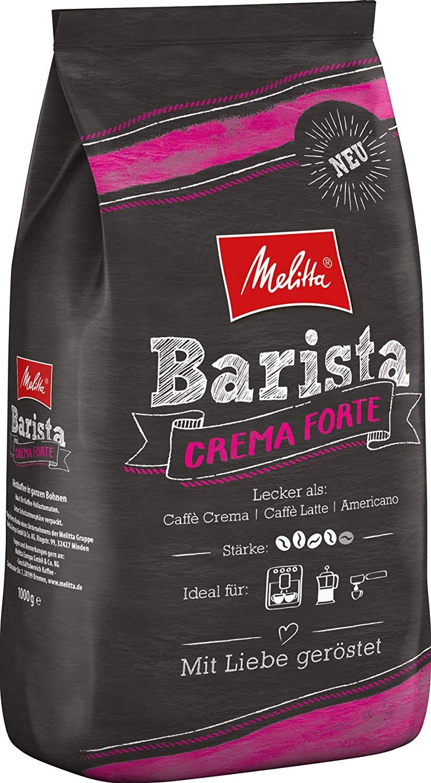 Melitta Barista Ganze Kaffeebohnen, kräftig und vollmundig, kräftiger Röstgrad, Stärke 4, Melitta Barista Crema Forte 1 kg