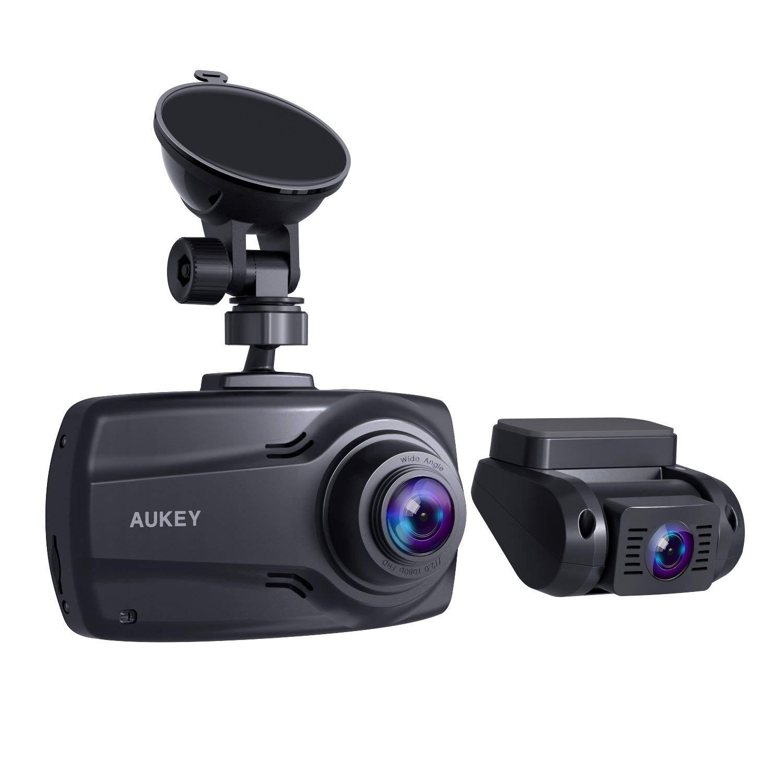AUKEY 1080p Doppel-Dashcam mit 2,7-Zoll-Display