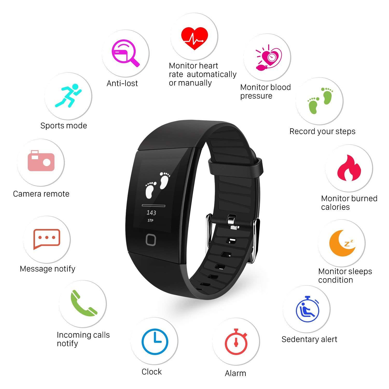 Fitness armband mit Blutdruckmessung , Uten Bluetooth Aktivität Fitnessuhr