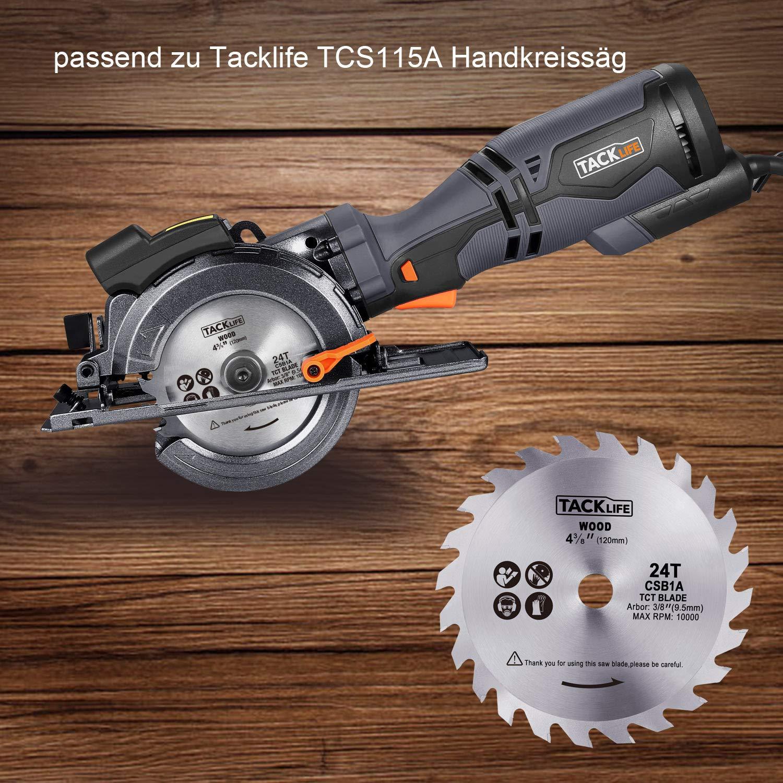 TACKLIFE Kreissägeblatt, Ø120 mm, 24 zahnsägeblatt, TCT-Sägenblatt