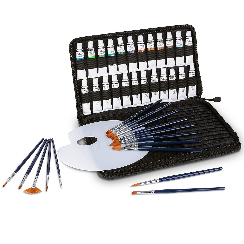 Fixkit Oil Paint Set – Professionelle Ölgemäldesets für Künstler, Anfänger und Heimwerker, mit 24 Tuben je 12 mL, 15 Pinsel und 1 Mischpalette