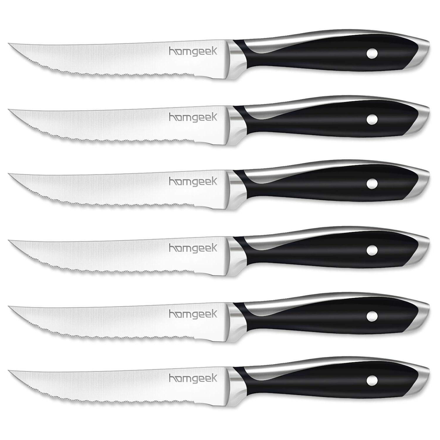 homgeek Steakmesser Set, 6-teilig
