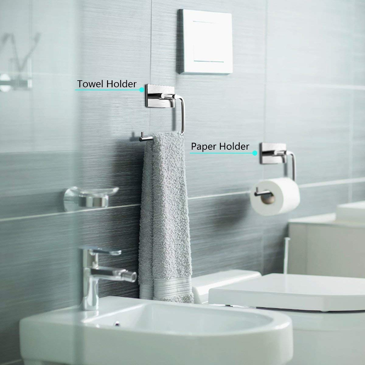 LEBEXY Toilettenpapierhalter Klopapierrollenhalter Ohne Bohren