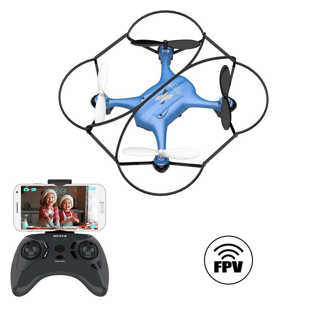 ATOYX AT-96 FPV Mini Drohne, RC Quadrocopter mit HD Wi-Fi Kamera app Steuerung Live Übertragung Automatische Höhenhaltung