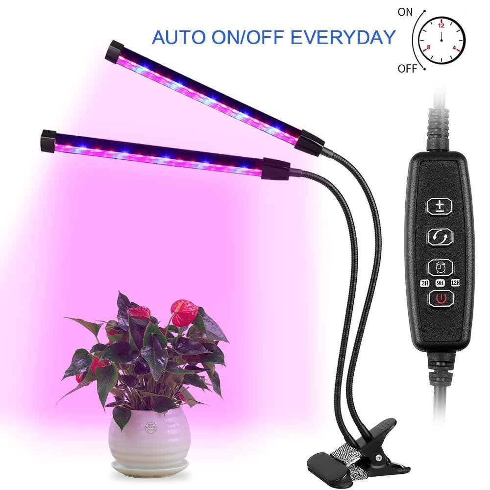 AGM Doppelkopf Pflanzenlampe 24W 12 LEDs