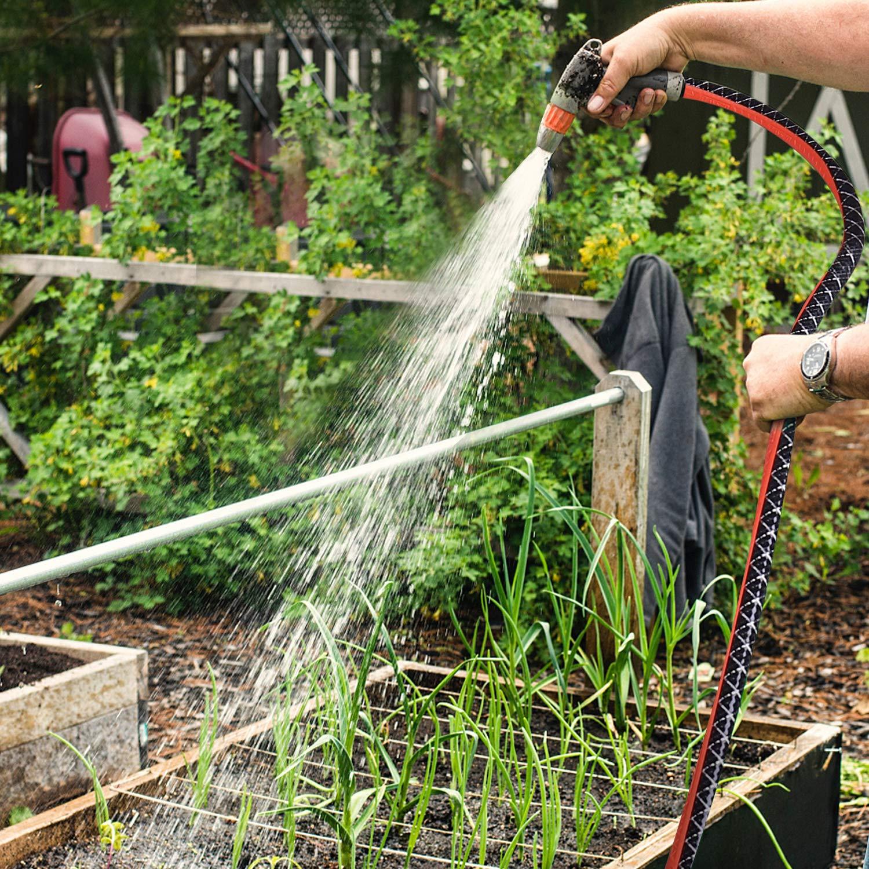 TACKLIFE Schlauch, 15 m Gartenschlauch, PVC-Wasserrohr für Garten