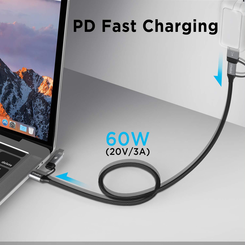 Veelink 4-in-1-USB-C-zu-USB-C-Kabel, Schnellladung, Ladekabel Typ C