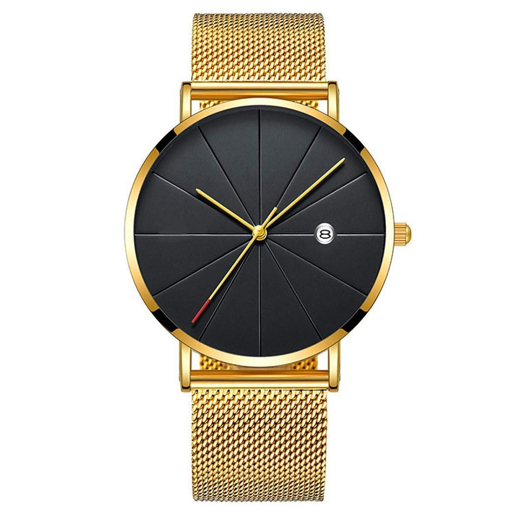 begorey Herrenmode Runde Form Quarzschnalle Armbanduhr Armbanduhren
