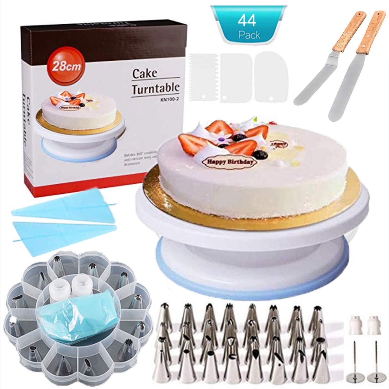 Weiß Cake Decorating Supplies -Tortenplatte drehbar Tortenständer Kuchen Drehteller