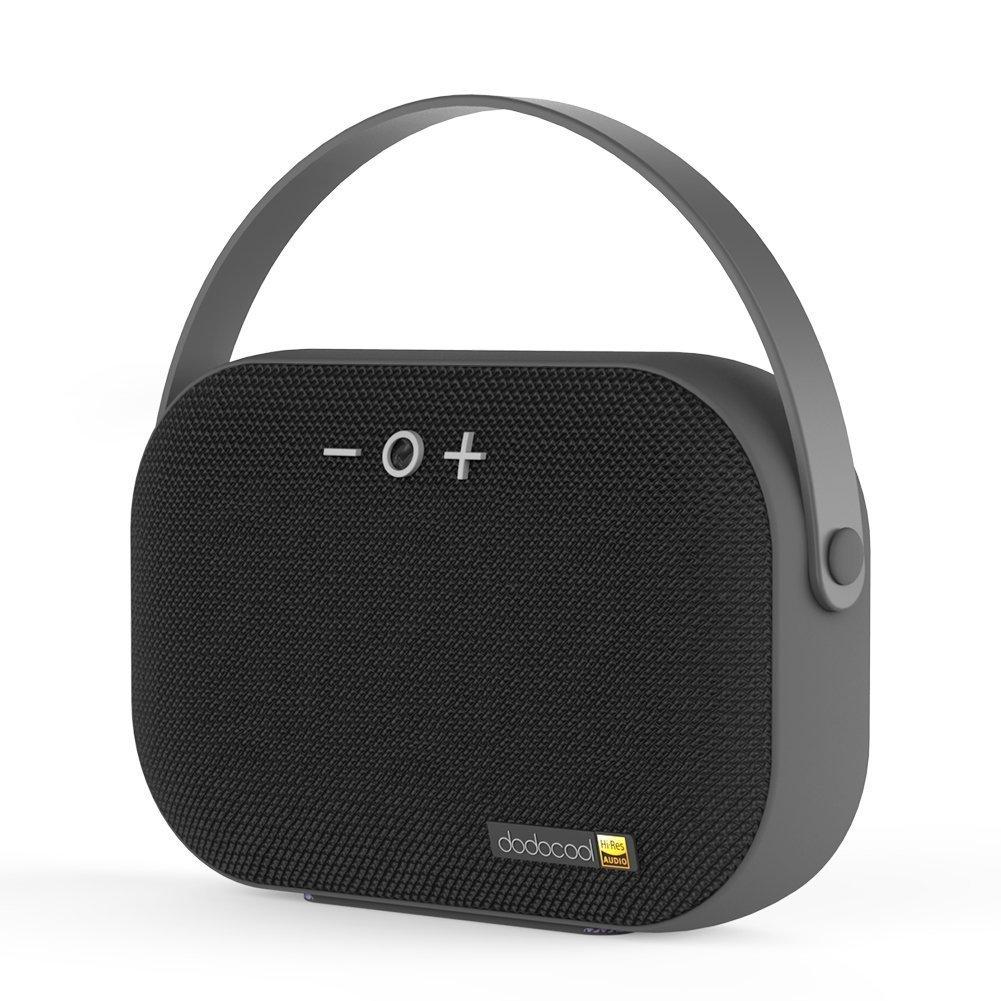 dodocool Hi-Res Tragbare Lautsprecher Wiederaufladbarer Stereo Wireless Speaker mit Mikrofon