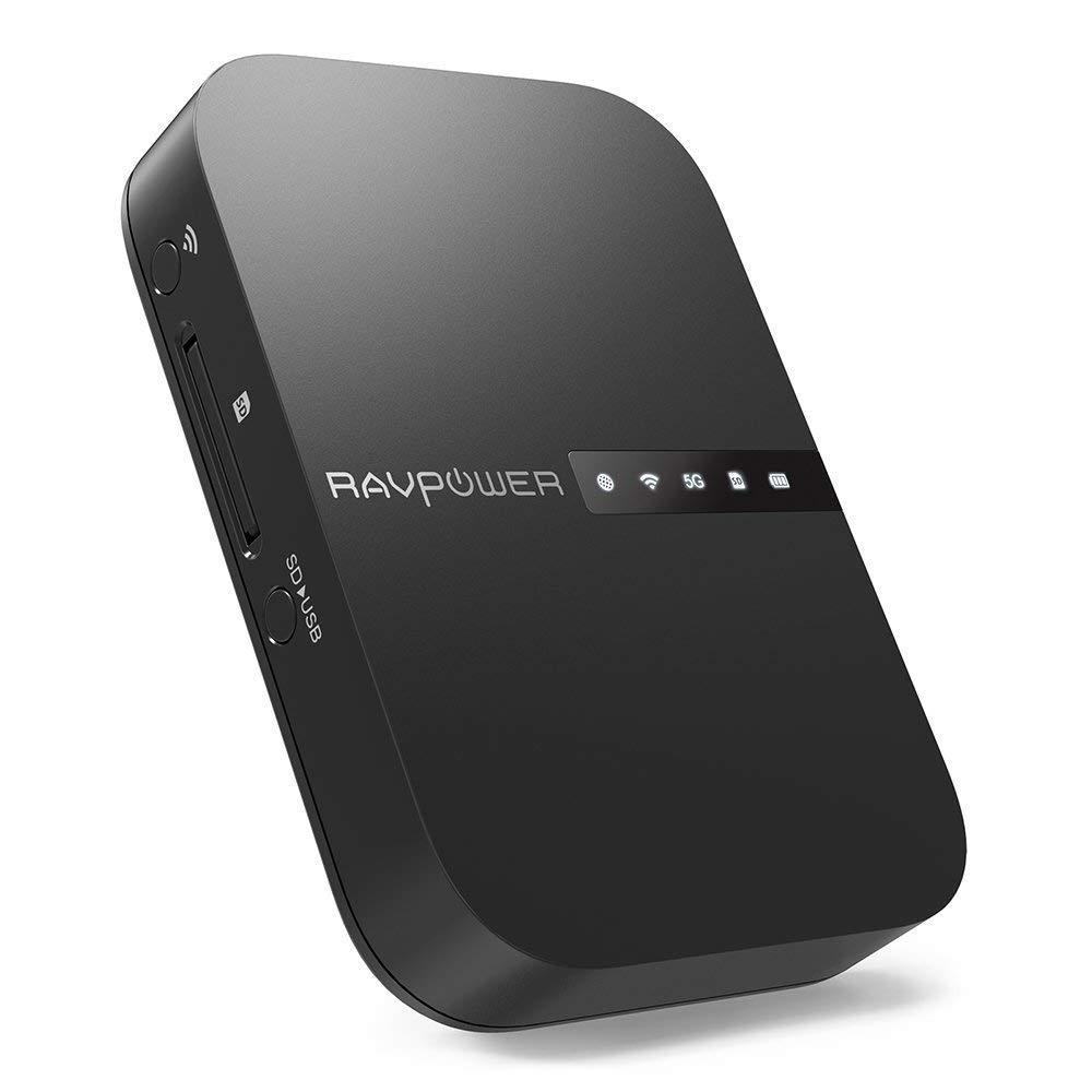 RAVPower Filehub, Kabelloser Reise WiFi Router AC750