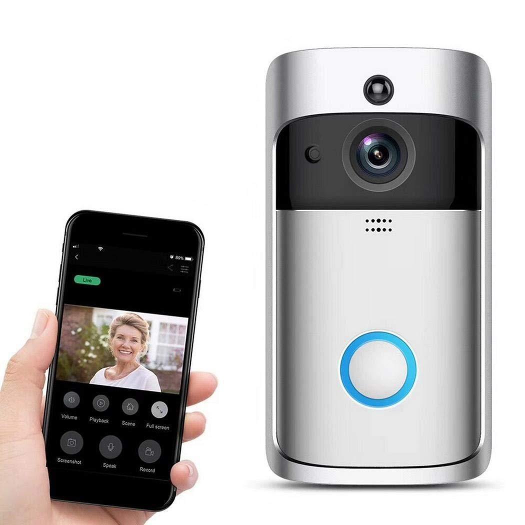 Dieron WiFi Intelligente Video-Türklingel 720P HD Funkfernbedienung Home Security Türklingel