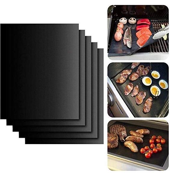Oikiler Wiederverwendbare Antihaft-BBQ-Grill-Braten-Matte tragbares Picknick im Freien, das Grill kocht Grillen & Barbecue