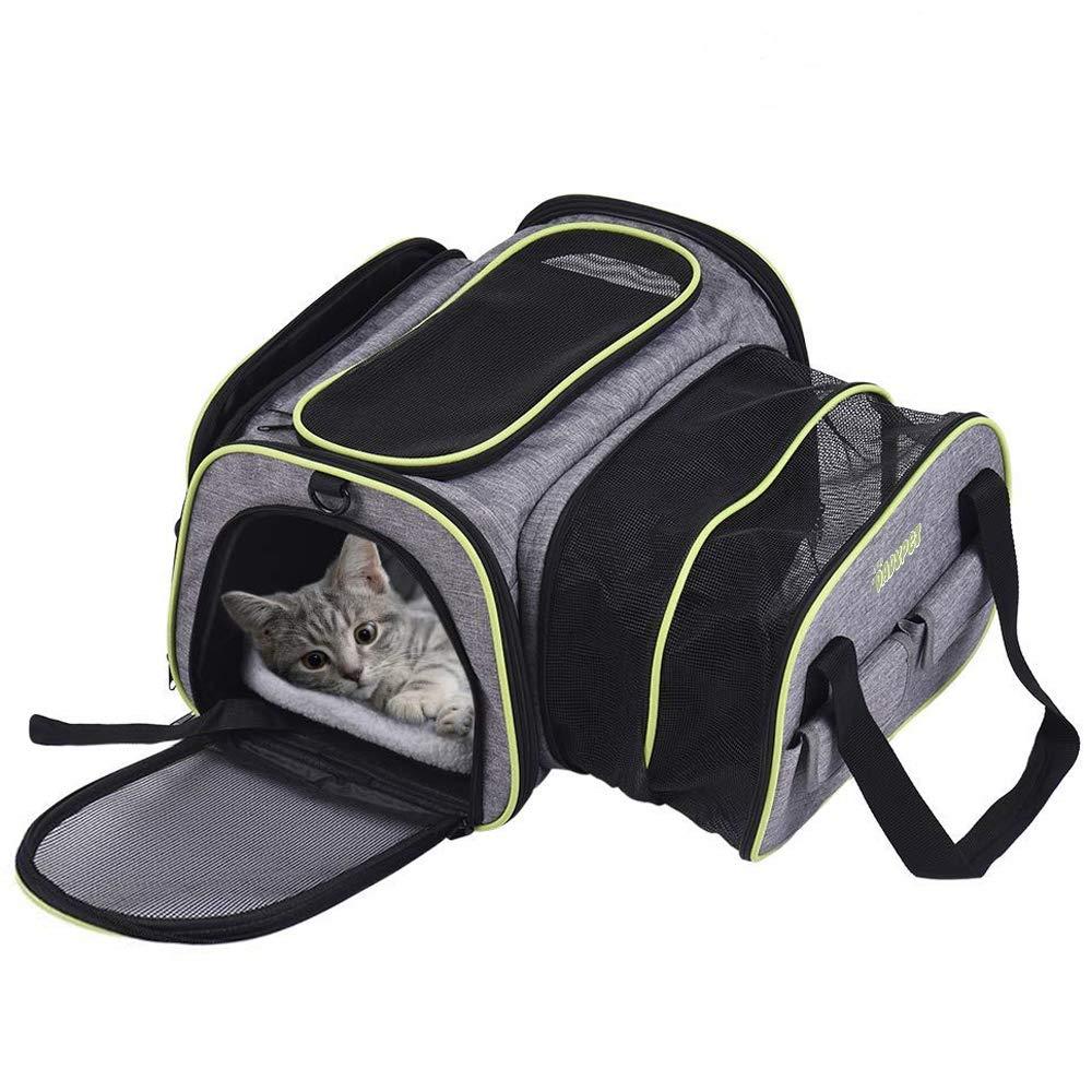 DADYPET Transporttasche Katze und Kleine Hunde, Katzentransportbox Katzen Transporttasche & Hundebox für den Transport von Hund & Katze im Flugzeug, Auto oder in der Bahn 44.5 * 33 * 28cm