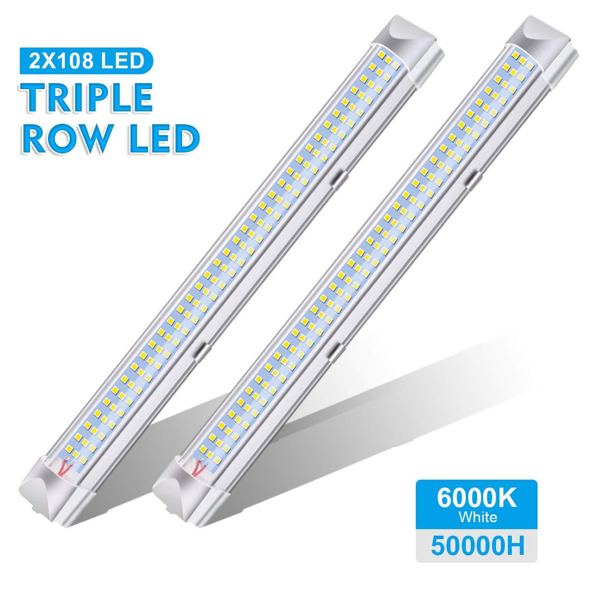 2er Pack AMBOTHER LED Innenbeleuchtung Leiste Einbauleuchte Innenleuchte