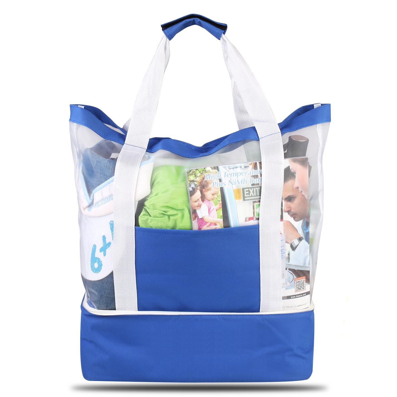 HOMFA Strandtasche mit Wasserdichter Kühlfach Reißverschluss Handtaschen