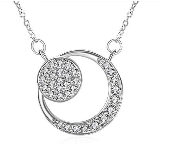 Kette Damen, ZHULERY Halskette Anhänger Ewige Liebe 925 Sterling Silber Kette