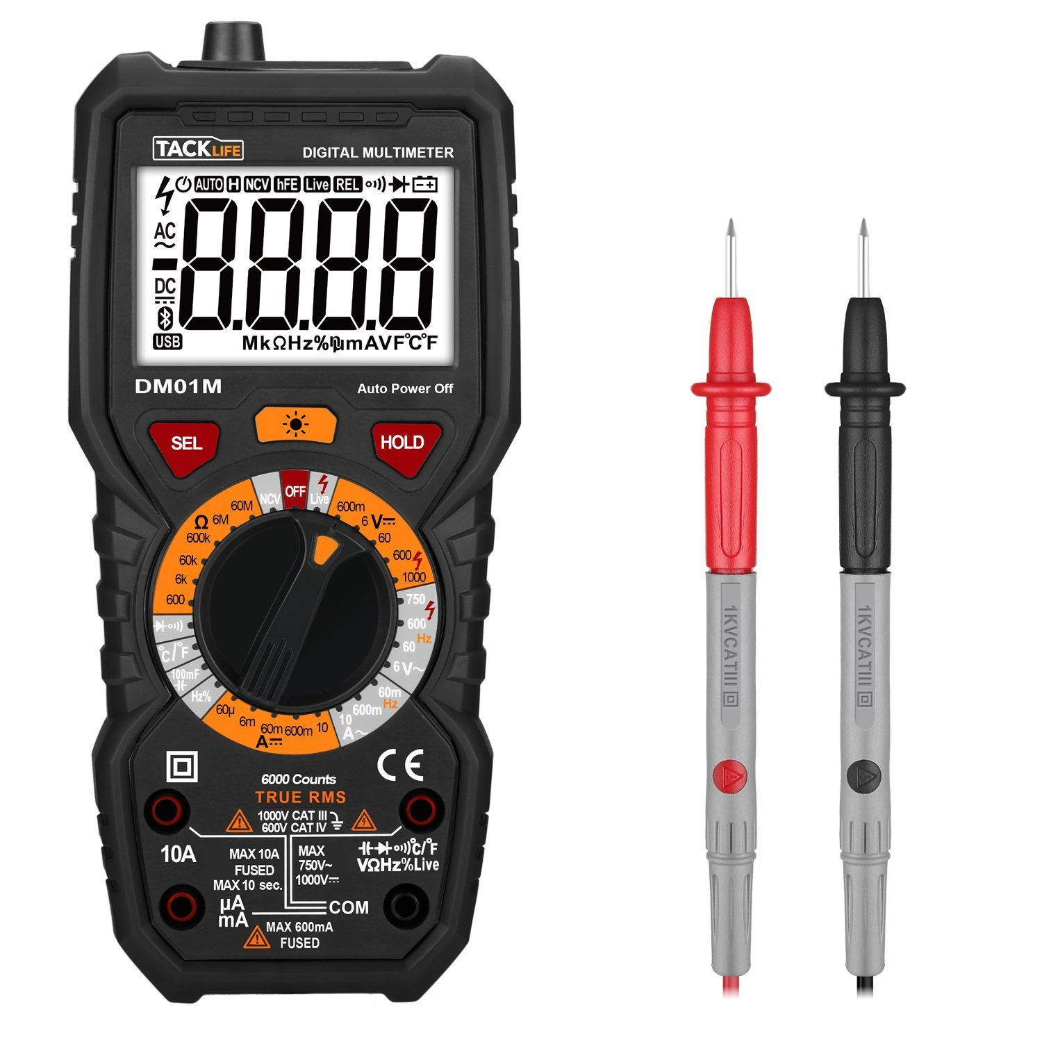 Digital Multimeter, Tacklife DM01M Advanced Multimeter