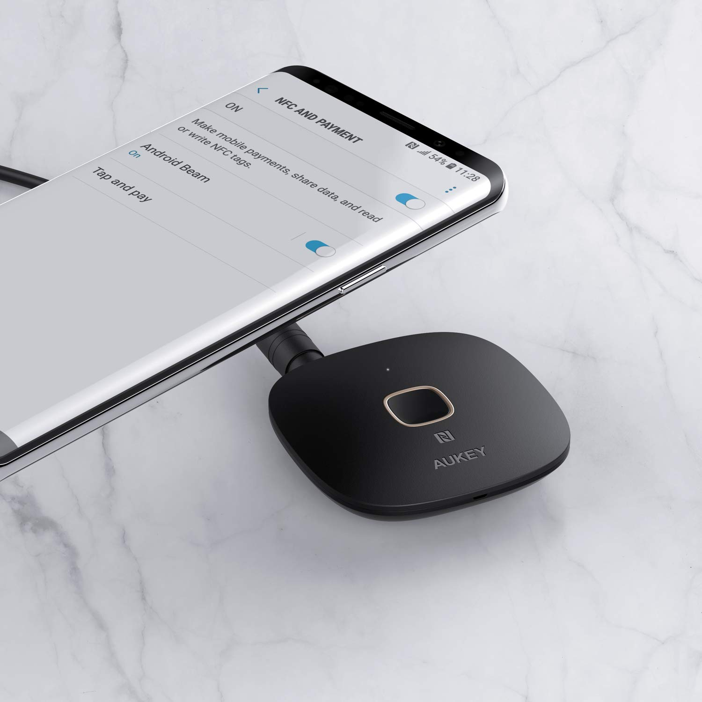 AUKEY Bluetooth Receiver 4.1, NFC-fähiger kabelloser Audio Adapter