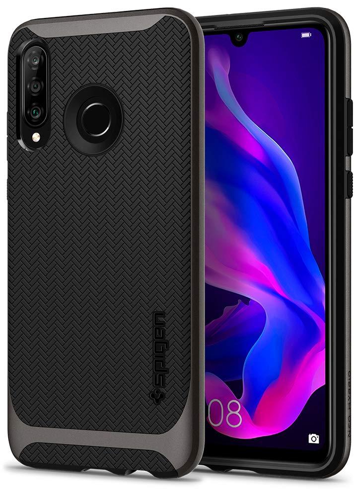 Spigen L39CS25742 Neo Hybrid Kompatibel mit Huawei P30 LITE Hülle Zweiteilige Handyhülle Modische Muster Silikon und PC Rahmen Schutzhülle Case – Gunmetal