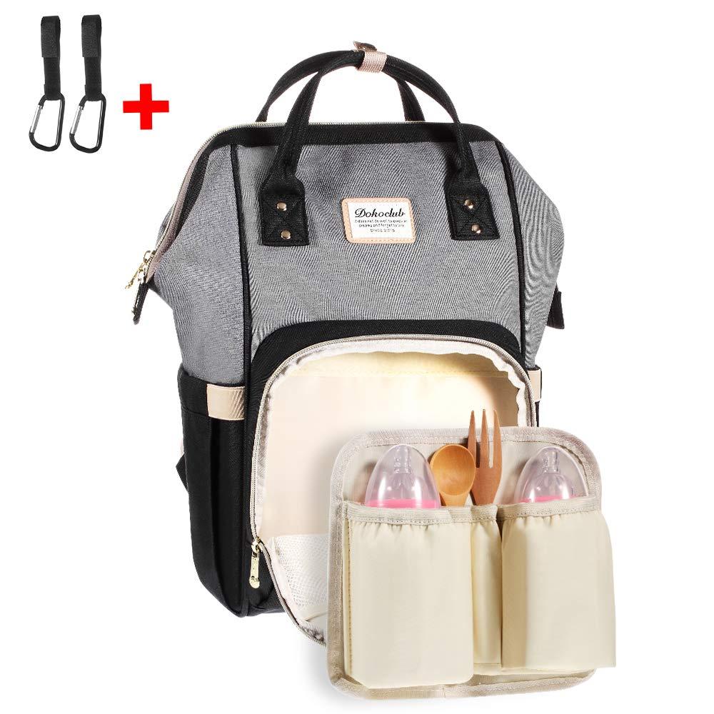 Coralov Baby Wickelrucksack mit 2 Pcs Kinderwagen Haken