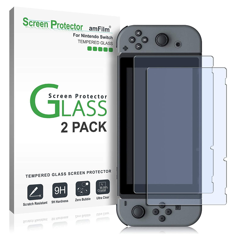 amFilm Nintendo Switch Displayschutzfolie Gehärtetem Glas