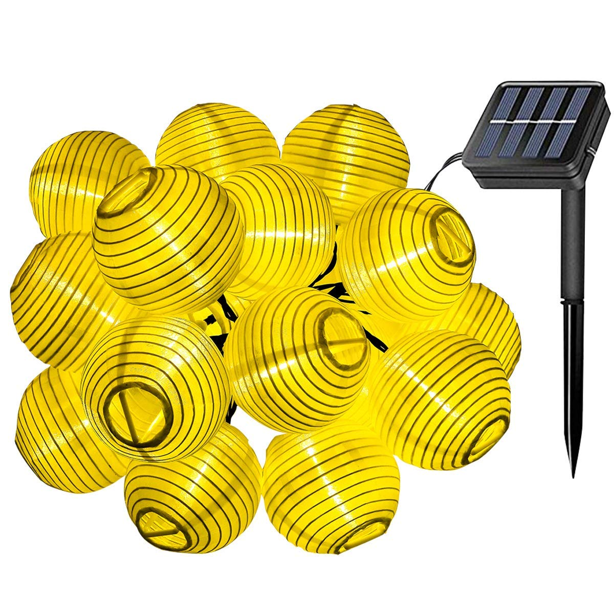Solar Lichterkette Warmweiß Lampion 20LEDs 5 Meters Laterne