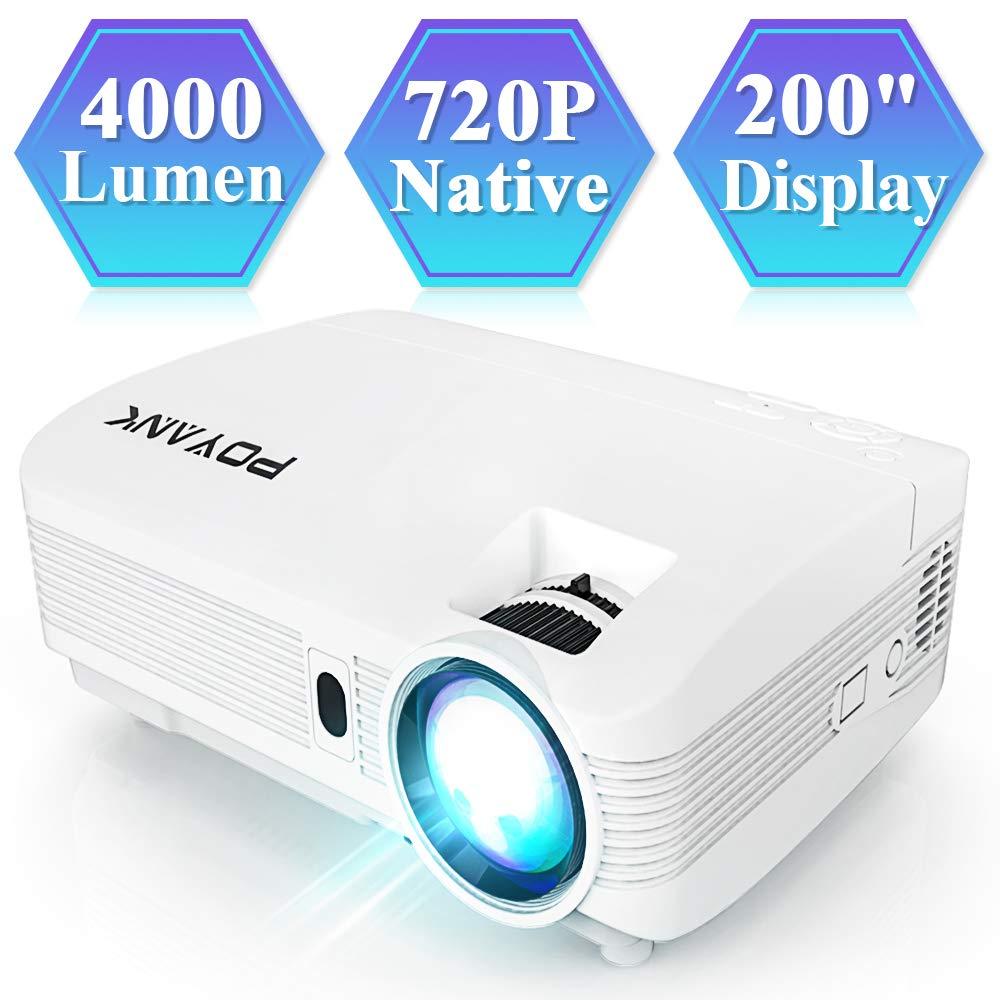 POYANK V6 Beamer, Full HD Video Projektor, 4,000 Lumen Heimkino Beamer