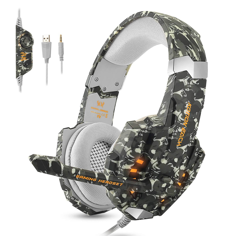 ECOOPRO PS4 Gaming Headset für Xbox PC Gaming-Kopfhörer