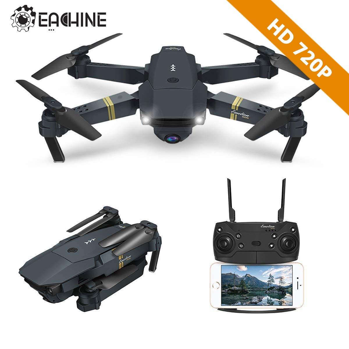 EACHINE Drohne mit Kamera E58 Live Übertragung,120°Weitwinkel 720P HD Kamera