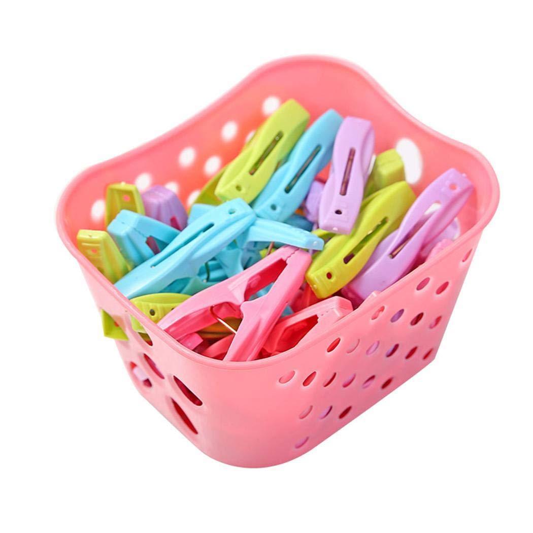 Dieron 30 Stücke Kunststoff Wäscheklammern Winddicht Kleiderbügel Clips Rutschfeste Wäscheklammern Trocknen Wäscheklammern