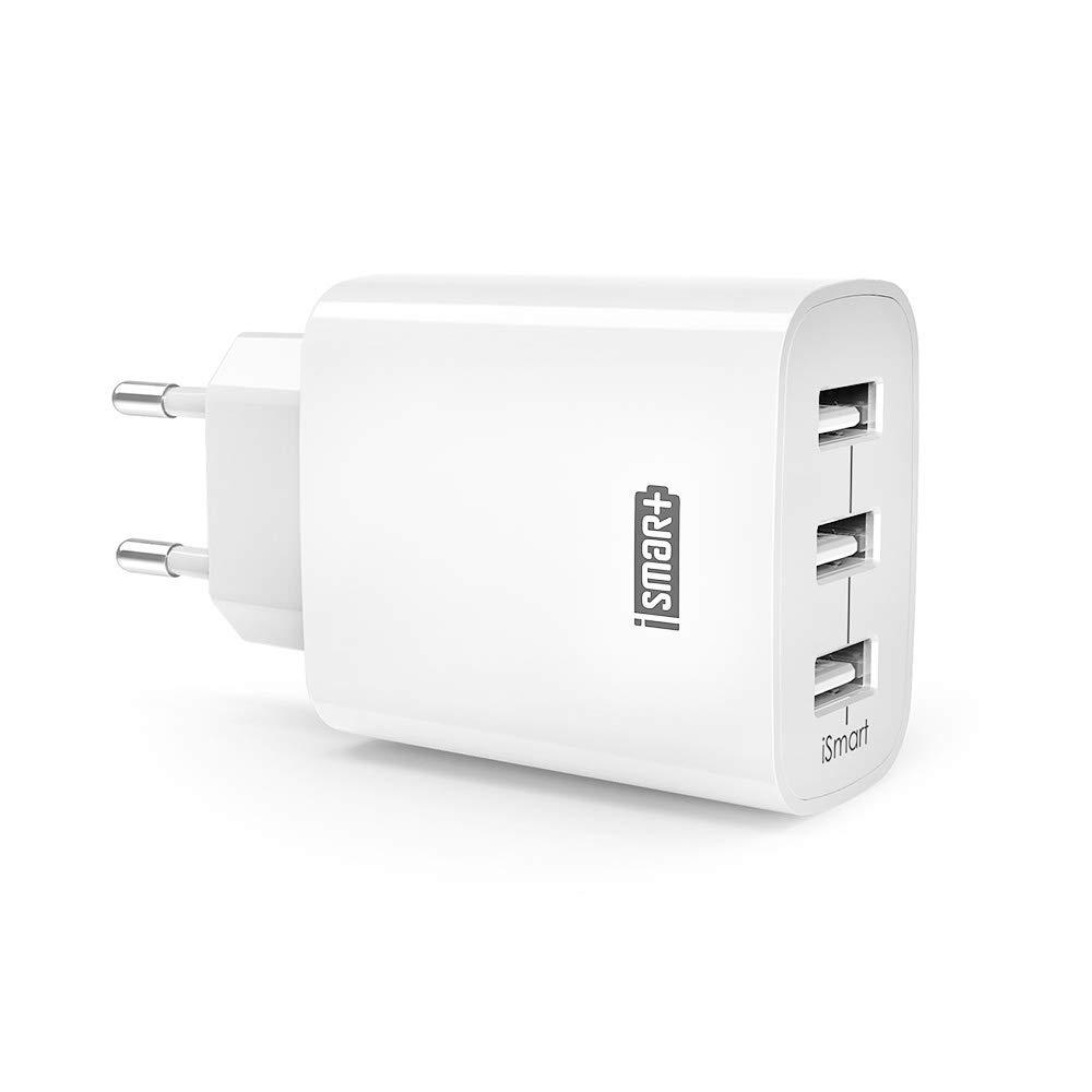 RAVPower 3-Port USB Ladegerät Ladeadapter mit iSmart Technologie