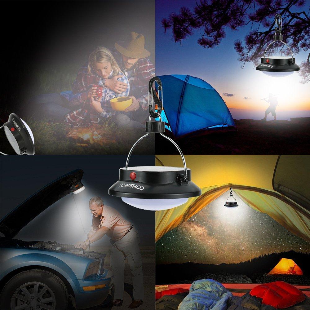 TOMSHOO Solar Campinglampe 200LM LED Camping Laterne Zeltlampe