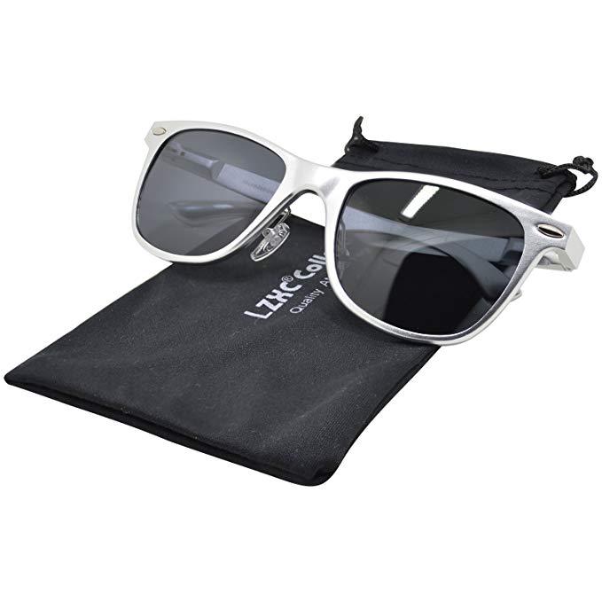 LZXC Unisex Polarisierte Sonnenbrille AL-MG Rahmen Federscharnier für Herren Damen