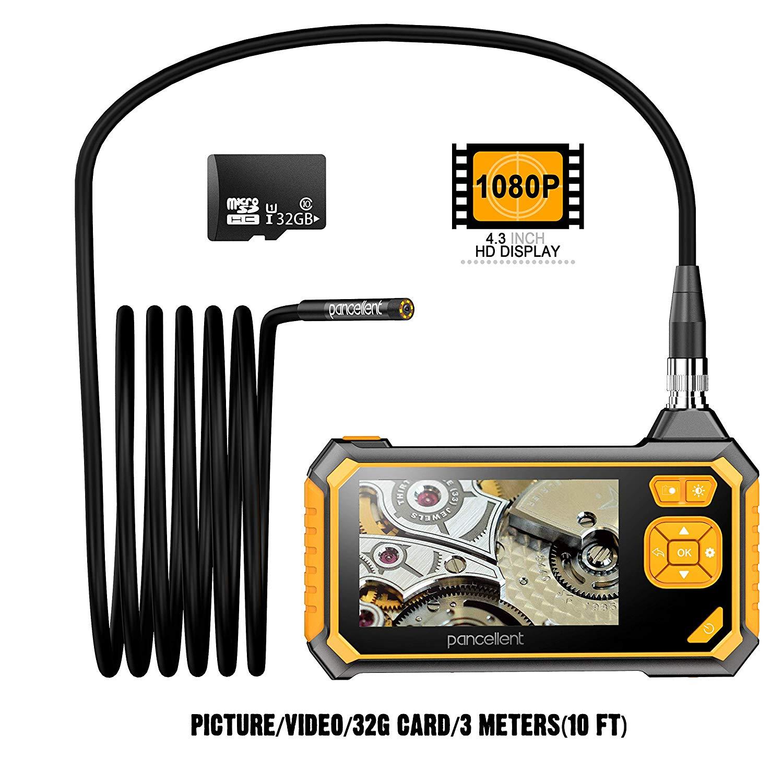 Pancellent Digitales Industrie Endoskop 1920X1080P, Videoscope Endoskop mit wasserdichter IP67-Kameraprüfung