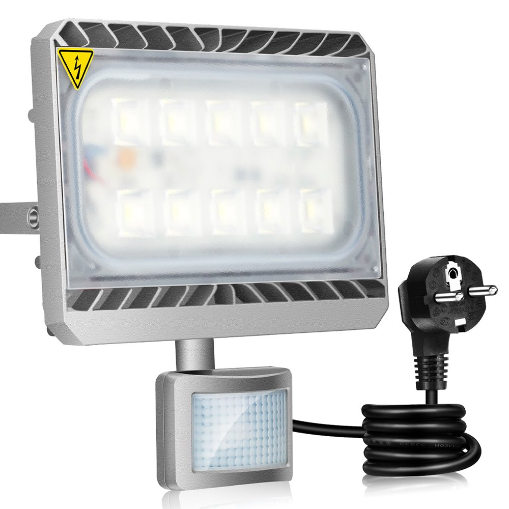 GOSUN® Super Hell 50W LED Fluter Mit Bewegungsmelder
