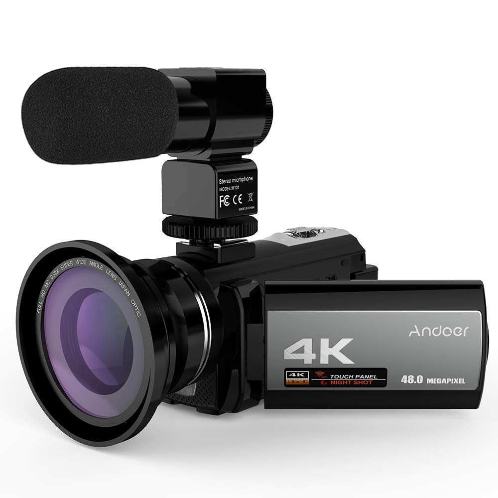 Andoer 4K Digital Videokamera Camcorder Ultra WiFi 3,0 HD