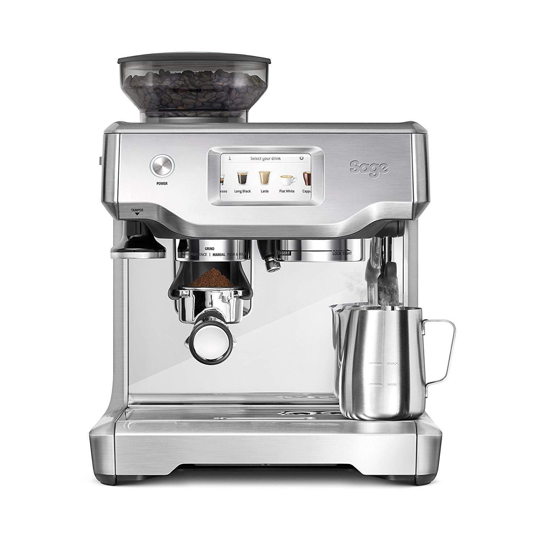 Sage Appliances SES880 Espresso-Maschine The Barista Touch, Gebürstetes Edelstahl