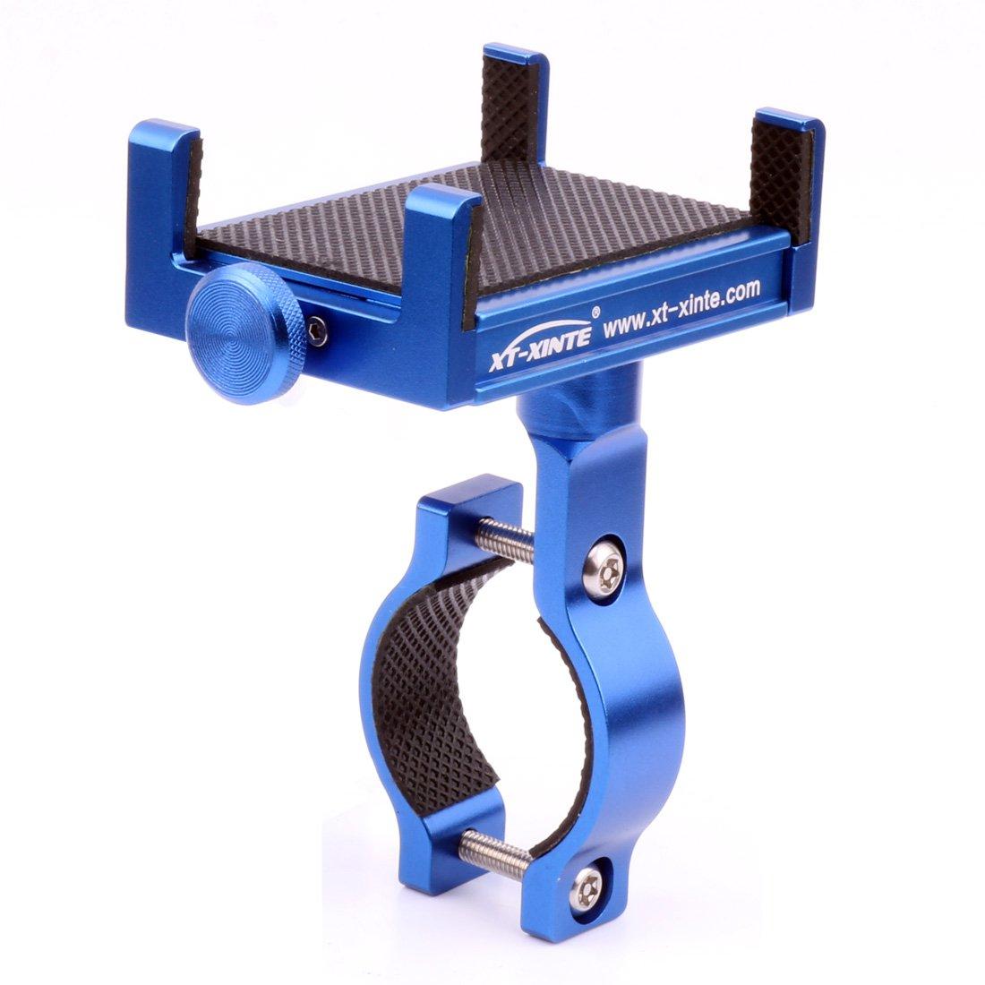 XT-XINTE Metall CNC Universal Handy Halter montieren Fahrrad Griffhalter Motorrad Lenkerhalterung Bicycle Phone Holder